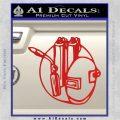 Welding Decal Sticker D3 Red Vinyl 120x120