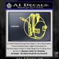 Welding Decal Sticker D3 Yellow Vinyl 120x120