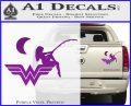 Wild Woman Fishing Moon Decal Sticker Purple Vinyl 120x97
