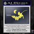 Wild Woman Fishing Moon Decal Sticker Yellow Vinyl 120x120