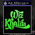 Wiz Khalifa Decal Sticker Logo Lime Green Vinyl 120x120