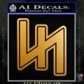 Wolfs Angel Rune D1 Decal Sticker Metallic Gold Vinyl 120x120