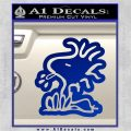Woodstock Decal Sticker DO Tounge Decal Sticker Blue Vinyl 120x120