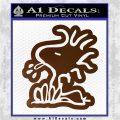 Woodstock Decal Sticker DO Tounge Decal Sticker Brown Vinyl 120x120