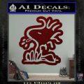Woodstock Decal Sticker DO Tounge Decal Sticker Dark Red Vinyl 120x120
