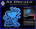 Woodstock Decal Sticker DO Tounge Decal Sticker Light Blue Vinyl 120x97