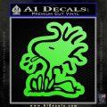 Woodstock Decal Sticker DO Tounge Decal Sticker Lime Green Vinyl 120x120