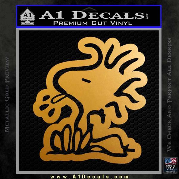 Woodstock Decal Sticker DO Tounge Decal Sticker Metallic Gold Vinyl