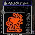 Woodstock Decal Sticker DO Tounge Decal Sticker Orange Vinyl Emblem 120x120