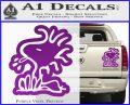 Woodstock Decal Sticker DO Tounge Decal Sticker Purple Vinyl 120x97