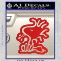 Woodstock Decal Sticker DO Tounge Decal Sticker Red Vinyl 120x120