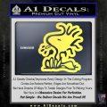 Woodstock Decal Sticker DO Tounge Decal Sticker Yellow Vinyl 120x120