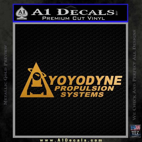 Yoyodyne Propulsion Systems Decal Sticker DW Metallic Gold Vinyl