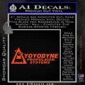 Yoyodyne Propulsion Systems Decal Sticker DW Orange Vinyl Emblem 120x120