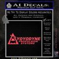 Yoyodyne Propulsion Systems Decal Sticker DW Pink Vinyl Emblem 120x120