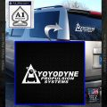 Yoyodyne Propulsion Systems Decal Sticker DW White Vinyl Emblem 120x120