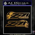 Z 71 Decal Sticker Skulls 2 Pk Metallic Gold Vinyl 120x120