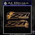 Z 71 Decal Sticker Skulls 2 Pk Metallic Gold Vinyl 120x120