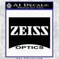 Zeiss Optics Decal Sticker VR Black Vinyl Logo Emblem 120x120