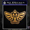 Zelda Decal Sticker Triforce OL Metallic Gold Vinyl 120x120
