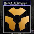 Advanced Armament Corp Decal Sticker Logo Metallic Gold Vinyl 120x120