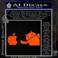Android Flips Bird To Apple Decal Sticker Orange Vinyl Emblem 120x120