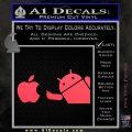 Android Flips Bird To Apple Decal Sticker Pink Vinyl Emblem 120x120