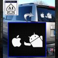 Android Flips Bird To Apple Decal Sticker White Vinyl Emblem 120x120