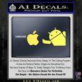 Android Flips Bird To Apple Decal Sticker Yellow Vinyl 120x120