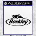 Berkley Fishing Decal Sticker Black Vinyl Logo Emblem 120x120