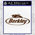 Berkley Fishing Decal Sticker Brown Vinyl 120x120