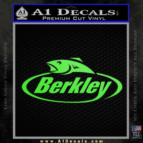 Berkley Fishing Decal Sticker Lime Green Vinyl