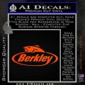 Berkley Fishing Decal Sticker Orange Vinyl Emblem 120x120