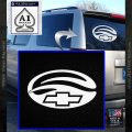 Chevy Malibu Logo Decal Sticker DO White Vinyl Emblem 120x120