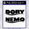 Dory and Finding Nemo Logos Decal Sticker Black Vinyl Logo Emblem 120x120