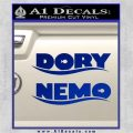 Dory and Finding Nemo Logos Decal Sticker Blue Vinyl 120x120