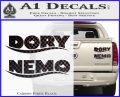 Dory and Finding Nemo Logos Decal Sticker Carbon Fiber Black 120x97