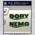 Dory and Finding Nemo Logos Decal Sticker Dark Green Vinyl 120x120
