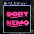 Dory and Finding Nemo Logos Decal Sticker Hot Pink Vinyl 120x120