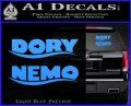 Dory and Finding Nemo Logos Decal Sticker Light Blue Vinyl 120x97