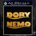 Dory and Finding Nemo Logos Decal Sticker Metallic Gold Vinyl 120x120
