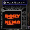 Dory and Finding Nemo Logos Decal Sticker Orange Vinyl Emblem 120x120