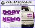 Dory and Finding Nemo Logos Decal Sticker Purple Vinyl 120x97