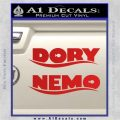 Dory and Finding Nemo Logos Decal Sticker Red Vinyl 120x120