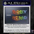 Dory and Finding Nemo Logos Decal Sticker Sparkle Glitter Vinyl Sparkle Glitter 120x120