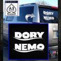 Dory and Finding Nemo Logos Decal Sticker White Vinyl Emblem 120x120