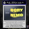 Dory and Finding Nemo Logos Decal Sticker Yellow Vinyl 120x120