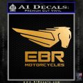 EBR Motorcycles Pegasus Logo Decal Sticker Metallic Gold Vinyl 120x120