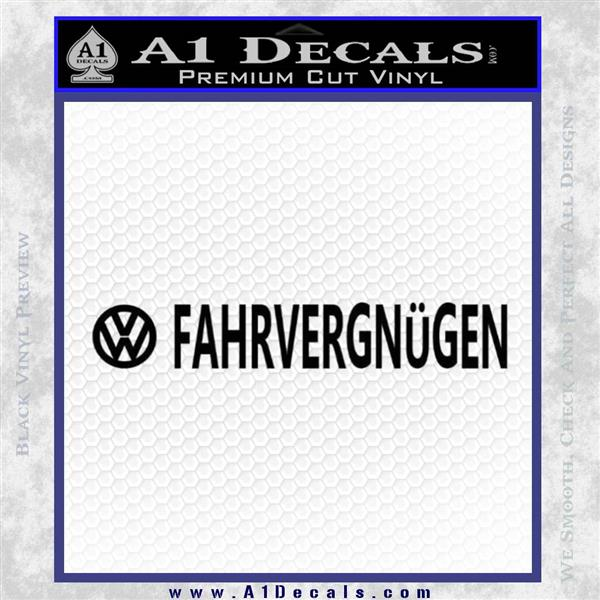 Fahrvergnugen Vw Decal Sticker 2 Pack A1 Decals Bring your texts to life with these bumper stickers. fahrvergnugen vw decal sticker 2 pack