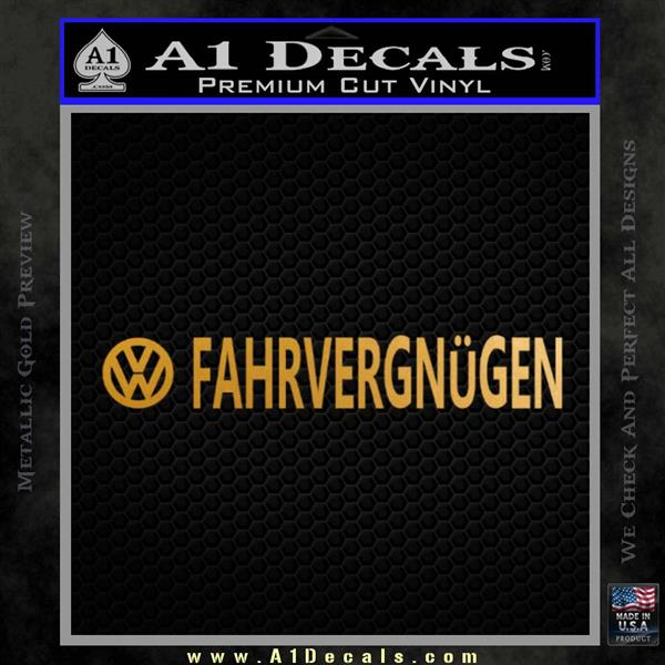 Fahrvergnugen Vw Decal Sticker 2 Pack A1 Decals My goal was to do a rendering of a classic car that looks like it could be in a old magazine. fahrvergnugen vw decal sticker 2 pack